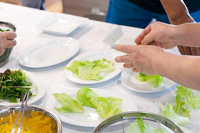 秋野菜のホットサラダ4